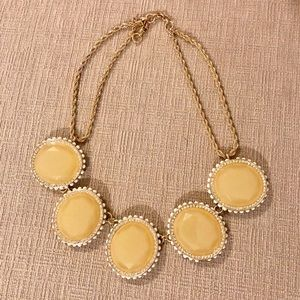 Banana Republic yellow stones and golden necklace
